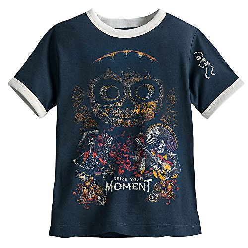 Disney Coco Ringer T-Shirt For Boys Size L (10/12) Gray