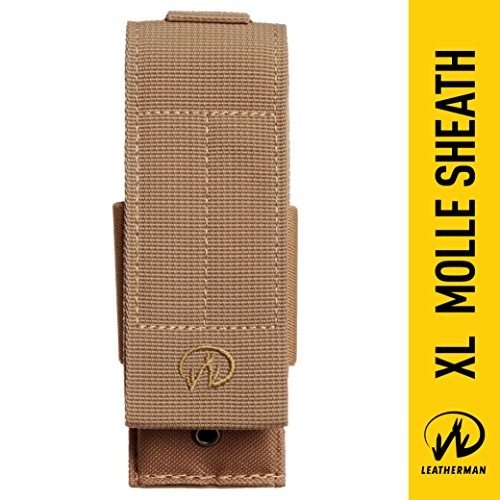 Leatherman - MOLLE Compatible X-Large Nylon Sheath, Fits MUT, Surge, and Super Tool 300 - Brown