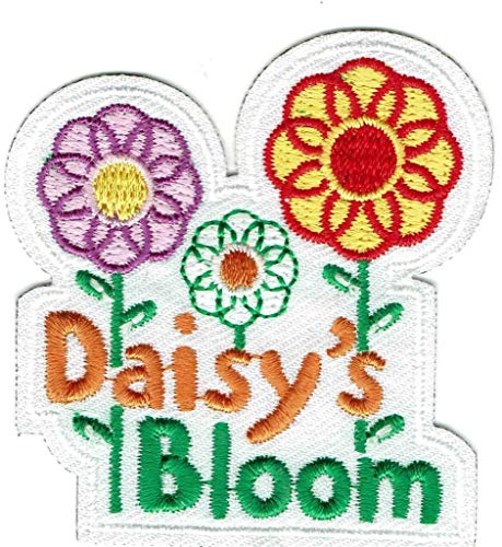 2Pcs Girl DAISY's Bloom Fun Flower Daisies Patches Crests Badges Scouts Guide Petals