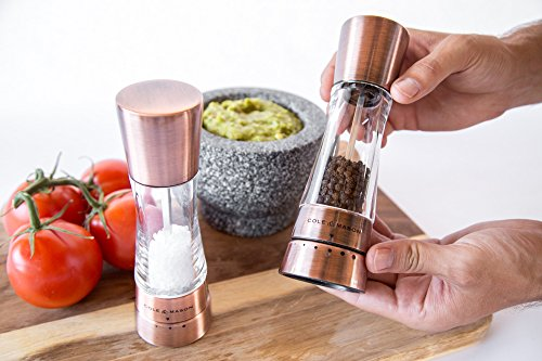 COLE & MASON Derwent Salt and Pepper Grinder Set - Copper Mills Include Gift Box, Gourmet Precision Mechanisms and Premium Sea Salt and Peppercorns by Cole & Mason (Image #7)