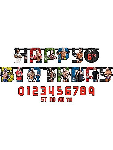 Amscan 3.2m x 25cm Wwe Jumbo Add-an-age Letter -