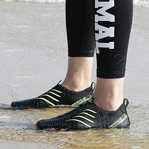 Trocknend Surfschuhe Aquaschuhe Unisex schwarz Für Schwimmschuhe Badeschuhe Schnell Herren Rutschfeste Putu Wasserschuhe 01 Weich Sohle B Damen Sommer aq8W0vfxXt