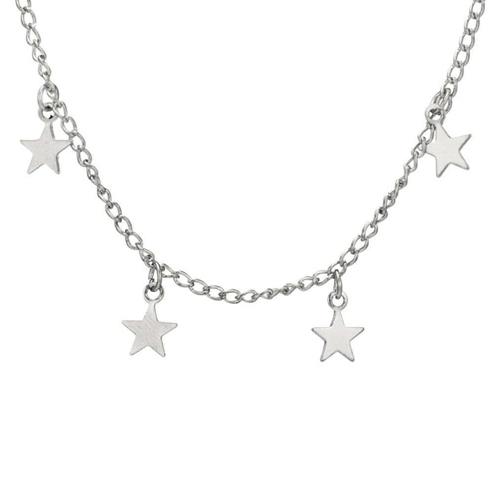 angel3292 Clearance Deals!Fashion Women Little Star Chain Pendant Necklace Solid Color Party Jewelry Gift
