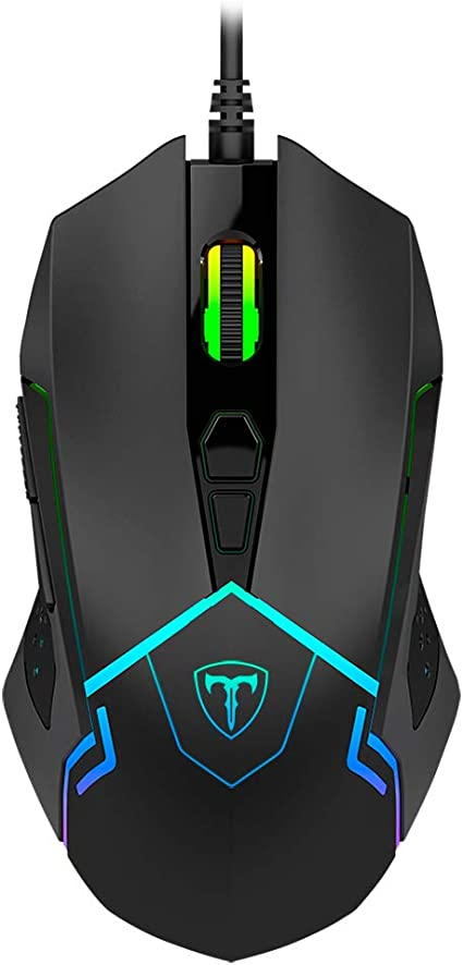 Mouse Gamer T-Dagger Senior RGB 4800 DPI com fio