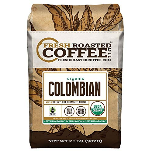 (Colombian Organic Fair Trade Sierra Nevada, Whole Bean, Fresh Roasted Coffee LLC (2 lb.))
