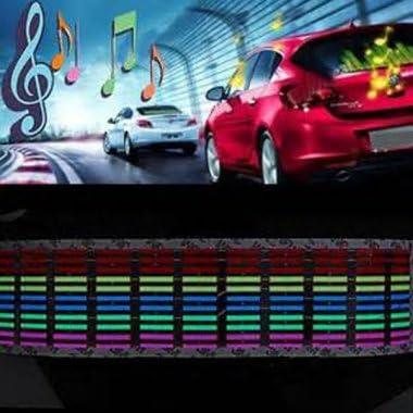 Music Rhythm Sound Activated Equalizer Led Light Lamp Car Sticker 12v Auto
