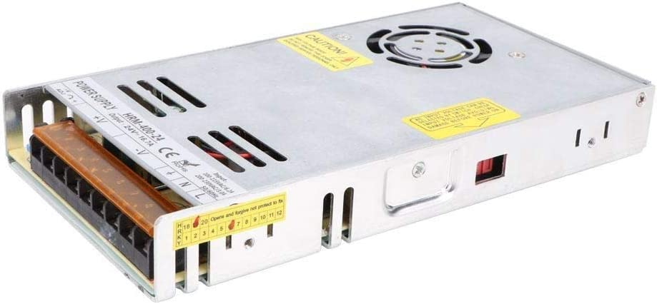 Rockyin Power Supply 400W LED Strip Regulated Driver Voltage Switch with Monitor 100~230VAC