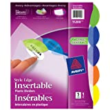 Avery Style Edge Plastic Insertable Dividers for Laser and Inkjet Printers, 5 tabs, Multi-colour, 1 Set, (11200)