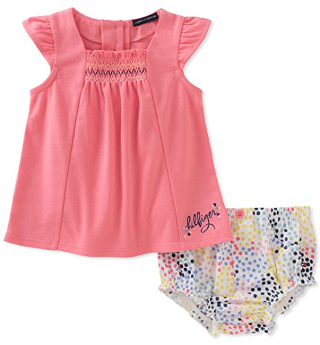 Tommy Hilfiger Baby Girls Diaper Set, Pink/Print, 24M