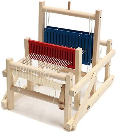 Queenwind クラフト木製伝統的なテーブル編み織り織機キッズ玩具教育 DIY ブロケードモデル