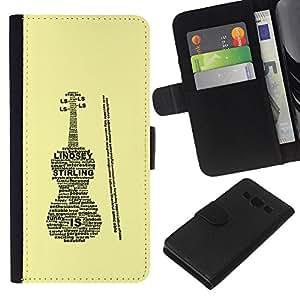 KLONGSHOP // Tirón de la caja Cartera de cuero con ranuras para tarjetas - Lindsey Caja del violín Sterling - Samsung Galaxy A3 //