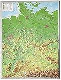 Deutschland klein 1:2.4MIO: Reliefkarte von Deutschland klein Din A3 (Tiefgezogenes Kunststoffrelief)