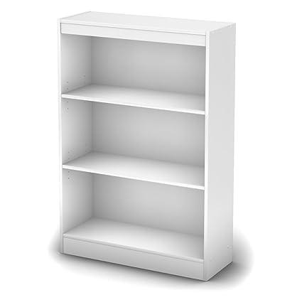 amazon com white book organizer closet storage unit with cubes rh amazon com  22 Inch Wide Shelves Bookshelf