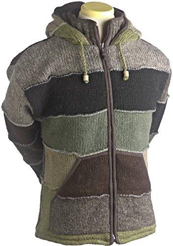 Laundromat Men's Patchwork Jacket, Green, Large