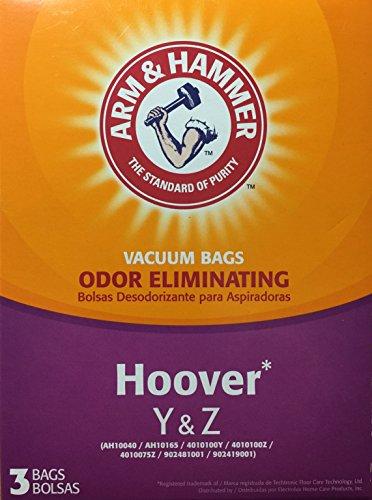 Arm & Hammer Odor Eliminating Vacuum Bags, Hoover Y & Z, 3-pack