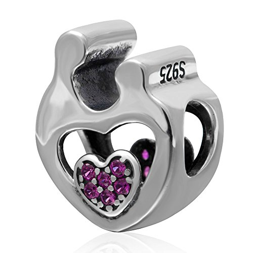 Mother and Son Charm 925 Sterling Silver Hug Charm Love Charm for  Bracelet - 3 Sons Pandora Charms
