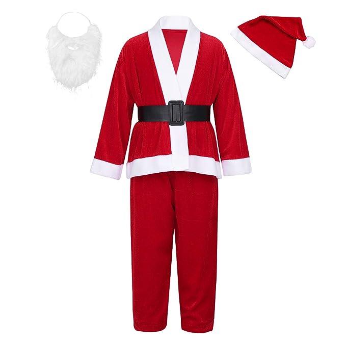 Amazon.com: Agoky - Disfraz de Papá Noel para niños ...