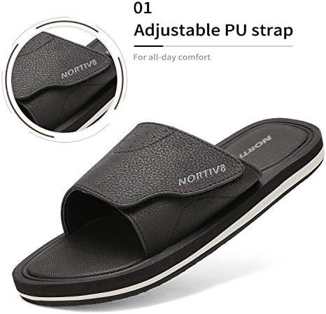 NORTIV Men Slide Sandals Comfort Lightweight Beach Shoes