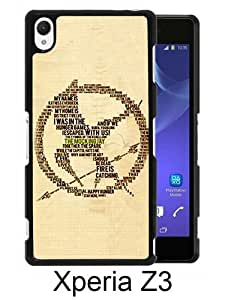 Newest Sony Xperia Z3 Case ,The Hunger Games Black Sony Xperia Z3 Screen Phone Case Popular Fashion And Durable Designed