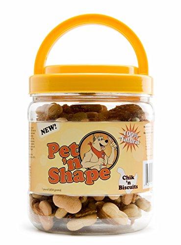 Pet 'n Shape Chik 'n Biscuits Natural Dog Treats, 1-Pound (Chicken Dog Biscuits)