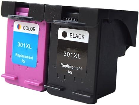 oyat® Set de Cartuchos para HP 301 X L 301 XL V1 Negro y Color de ...