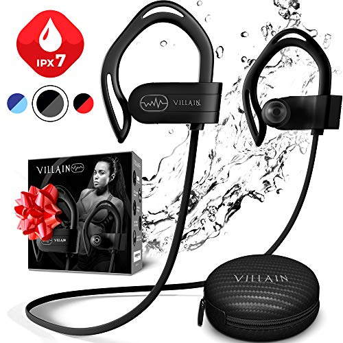 Bluetooth headphones, [Newest 2019] Wireless Earphones for Running, Workout, Gym - Best Sport Earbuds for Men & Women - Waterproof IPX7 Sports Earphones - Noise Cancelling Headset for iPhone & Android