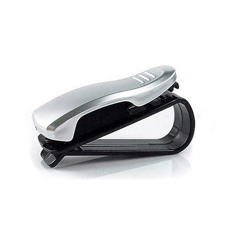 Aogolouk 2 piezas de coches Auto sujetador Gafas Gafas de sol del visera del vehículo tarjetas