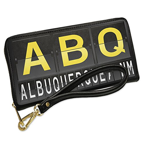 Wallet Clutch ABQ Airport Code for Albuquerque, NM with Removable Wristlet Strap - Shops Airport Albuquerque