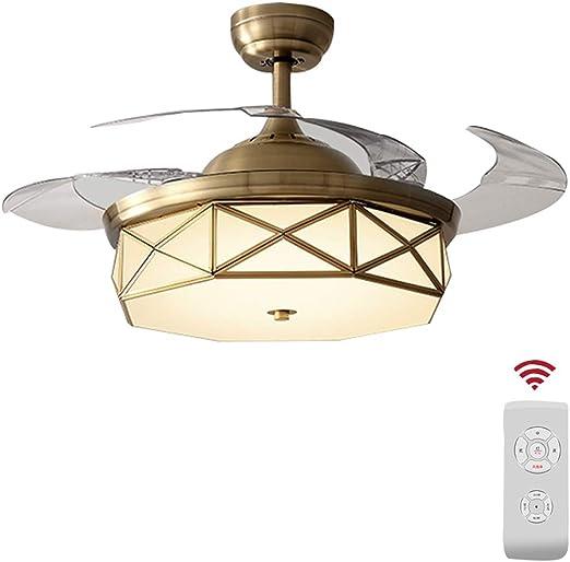 Diaodeng Luz de Ventilador de Techo, lámpara LED Regulable con ...