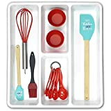 Prosilie Set of 11 Silicone Baking Utensil Set Including Silicone Spatula Egg Whisk Measuring Spoon Brush and Cupcake Mold