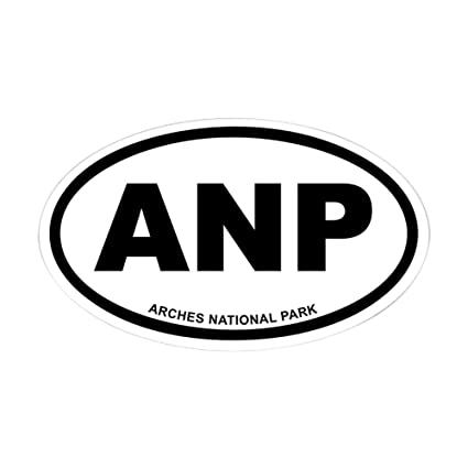 Cafepress arches national park euro oval sticker oval bumper sticker euro oval car