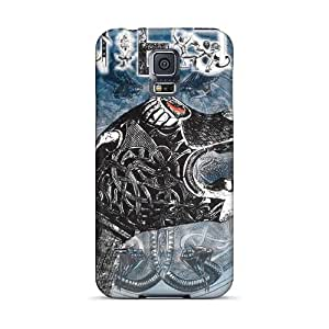 Samsung Galaxy S5 EqO11407CqXh Support Personal Customs Lifelike Einherjer Band Series Shock-Absorbing Hard Cell-phone Case -TimeaJoyce