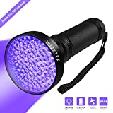 UV Flashlight Black light, WJZXTEK Super Bright 100 LED Best Powerful Black Light Flashlight 395NM Ultraviolet Urine Detector Flashlight for Home & Hotel Inspection, Pet Urine & Stain Detection