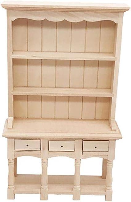 muebles de escala 1:12 casa de muñecas en miniatura Armario Con Cajones Blanco