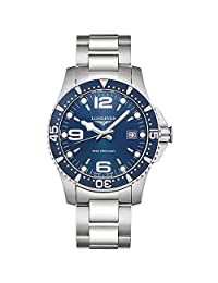 Longines Men's Steel Bracelet & Case Swiss Quartz Blue Dial Analog Watch L37404966