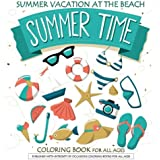 Summer Time Vacation At The Beach Coloring Book Books For Adults Ocean Life