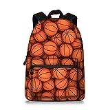 Jeremysport Canvas Printing Basketball Backpack Laptop Backpack Schoolbag
