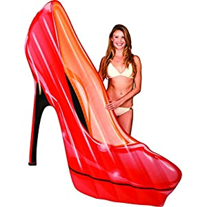 BEST HIGH HEEL INFLATABLE POOL FLOATS, Perfect Floaties for Kids & Adults, Huge Blow Up Party Tubes for River Rafting Summer Fun, Ultimate Floating Lounger, Ride On Birthday Water Raft Toy, Red 60in
