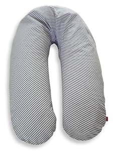 Ideenreich Repuesto - Cubierta para cojin de lactancia,100% algodón, color Azul (Blue-White stripes), 190 cm