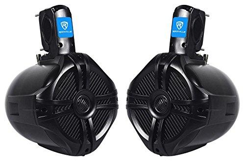 Pair Rockville RWB65B 6.5' Black 2 Way 250 Watt Marine Wakeboard Tower Speakers