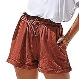 Sumeimiya Women's Pure Color Shorts Pants, Fashionr Summer Bandage Pants Hot Pants Shorts Comfy Trousers
