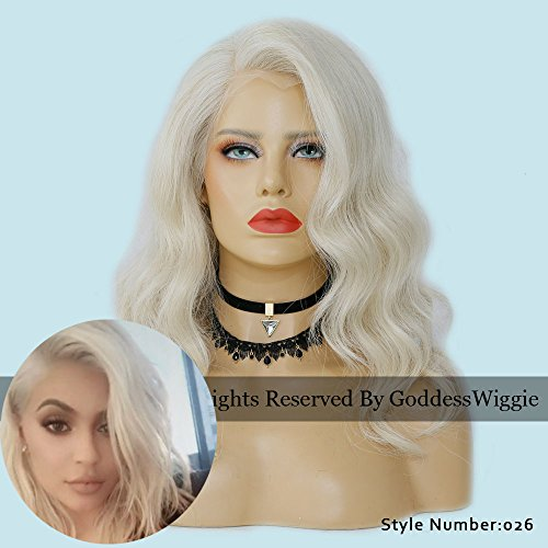 7A Glueless Blonde Body Wavy Lace Front Wigs Human Hair Wigs With Baby Hair For Women (14inch 150density) by Goddess