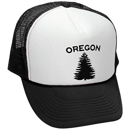OREGON - us state salem portland beaver - Adult Trucker Cap Hat, Black