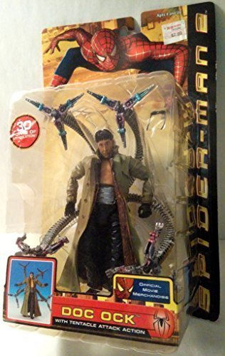 Spider-Man 2 Doc Ock with Tentacle Attack Action Figure (Dr Octopus Costume)