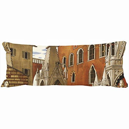 Decorative Body Pillows Verona Italy Vintage Travel Unique Design Home Decor Pillow Case Cover 20-Inch x 54-Inch Custom Sofa Cotton Cushion (Verona Modern Sofa)