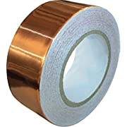 #LightningDeal 79% claimed: Copper Foil Tape with Conductive Adhesive (1inch X 12yards) - Slug Repellent, EMI Shielding, Stained Glass, Paper Circuits, Electrical Repairs - Extra Long Value Pack At A Great Price