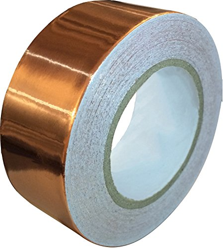 Copper Foil Tape with Conductive Adhesive (1inch X 12yards) - Slug Repellent, EMI Shielding, Stained Glass, Paper Circuits, Electrical Repairs - Extra Long Value Pack At A Great - Glasses Ribbon Price