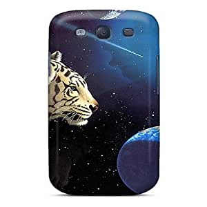Galaxy S3 MPg1905Kcra Space Tiger Tpu Silicone Gel Case Cover. Fits Galaxy S3