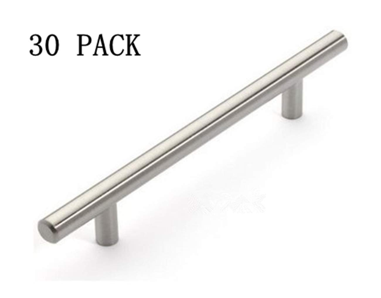 12mm Stainless Steel Kitchen Cabinet Handles T Bar Pull (8 Inches), 30 Pack by Wang-Data