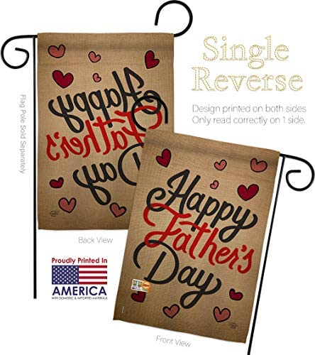 Amazon Com Father S Day Happy Garden Flag Family Dad Daddy Papa Grandpa Best Parent Sibling Relatives Grandparent Small Decorative Gift Yard House Banner Double Sided Made In Usa 13 X 18 5 Garden